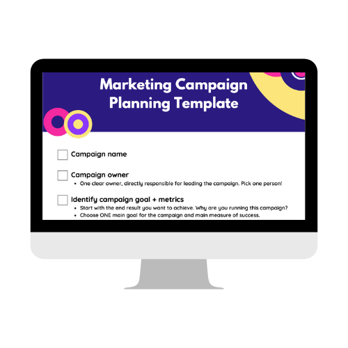 Marketing Campaign Planning Template Icon