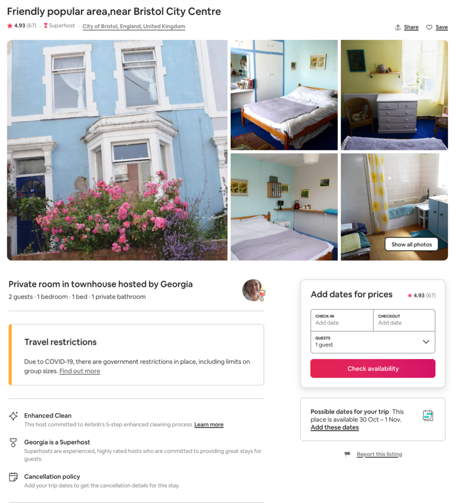 Georgia's Townhouse AirBnB Review