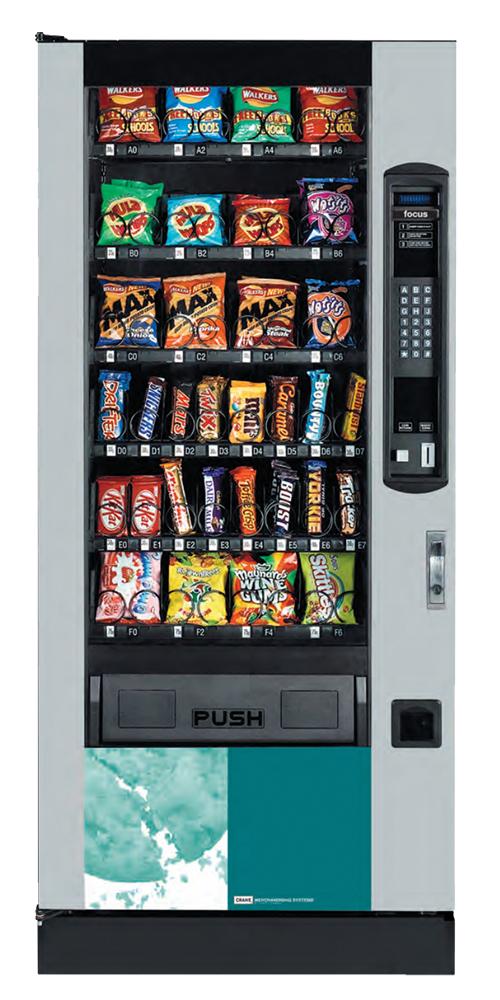 Crane Focus snack vending machine