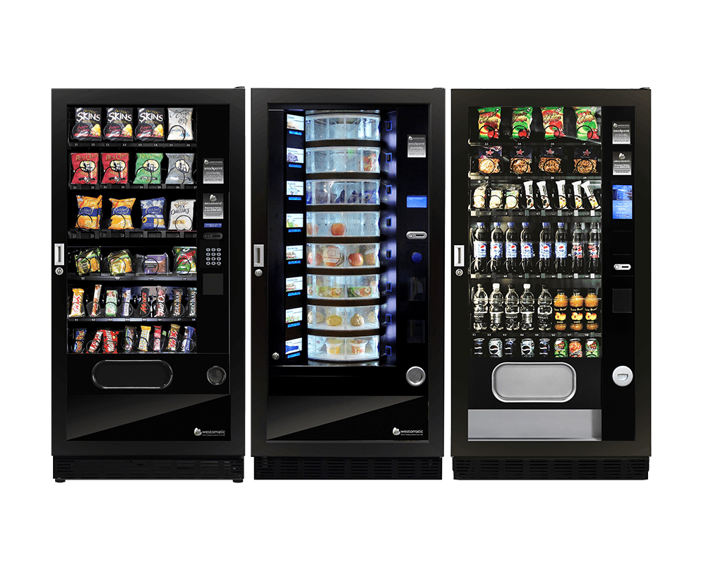cold drinks and food vending machines