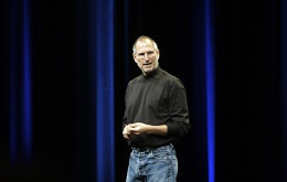 Steve Jobs speaks at his keynote at Apple's Worldwide Developer's Conference. Photo Courtesy: Ben Stanfield, Flickr