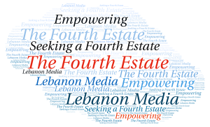 Word Cloud, Seeking a Fourth Estate. Created on Tagul by Rouba El Helou.