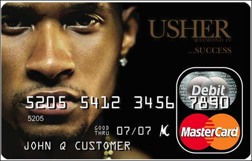 Usher Gift Card. Photo Credit: www.brandme.com