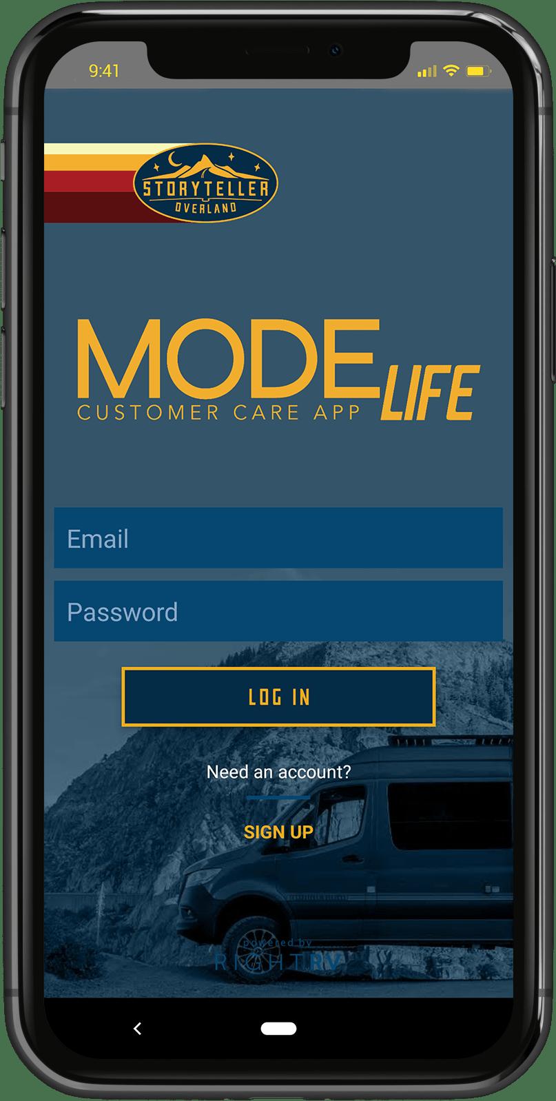 Storyteller Overland MODElife App
