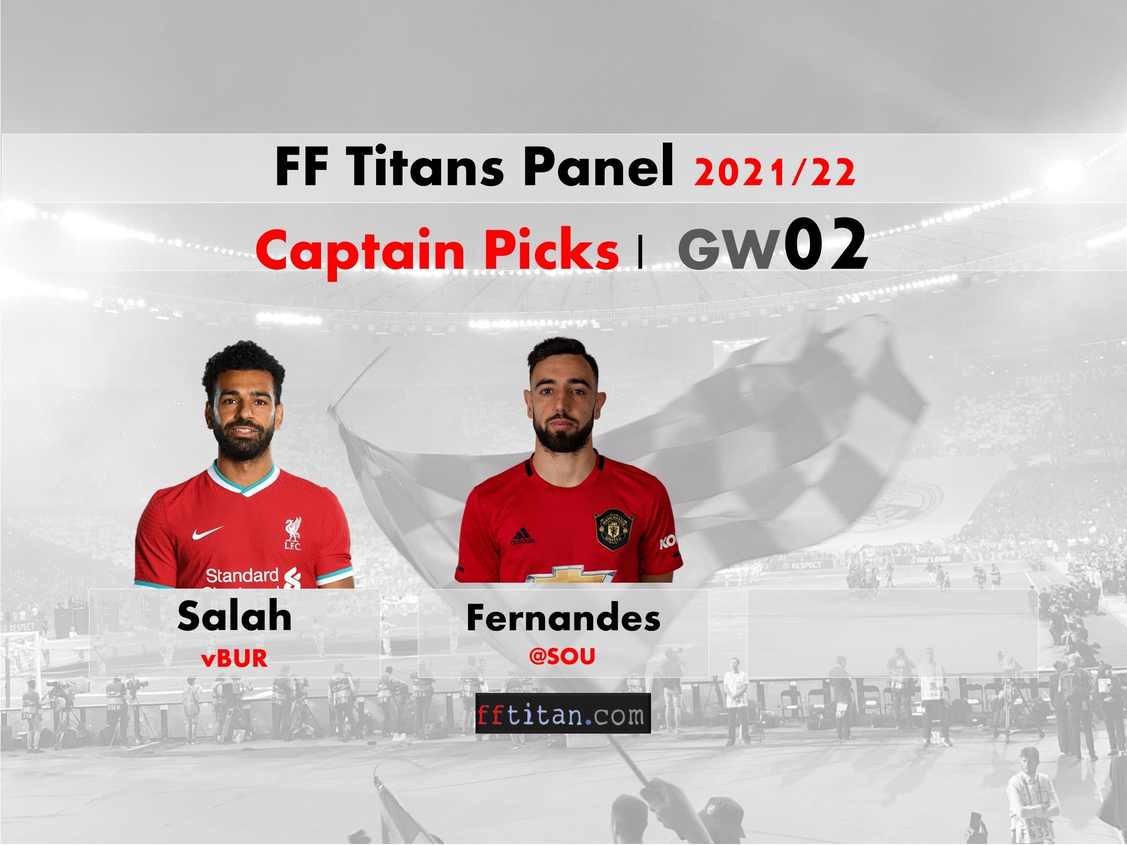 FPL GW02 Captain Picks