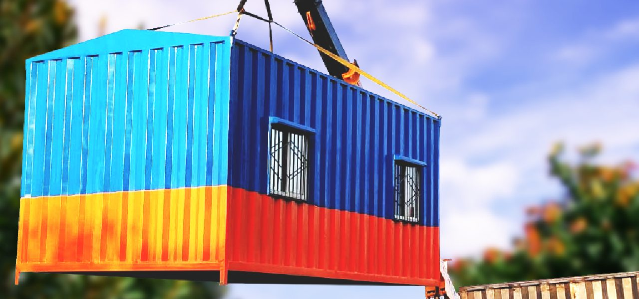 Shipping Container Office   New Generation Cabins & Homes