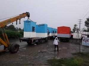 Uploading Mobile Toilets