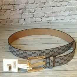 Michael Kors Wide branding embossed belt