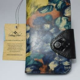 Patricia Nash iPhone 10 phone case in blu clay with floral pattern