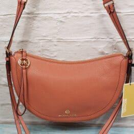 Michael Kors Camden shoulder bag in sunset peach, coopers closet