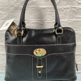 Giani Bernini black dome satchel