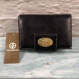 Giani Bernini purse black glazed