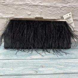 INC Carolyn feathered Clutch bag