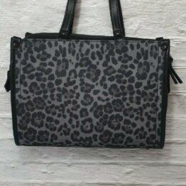 INC rummy satchel leopard print