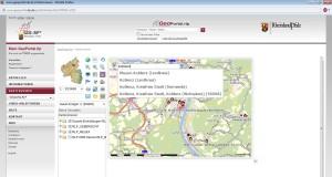 Krankenhäuser in Rheinland-Pfalz - thematische Karte im Geoportal RP