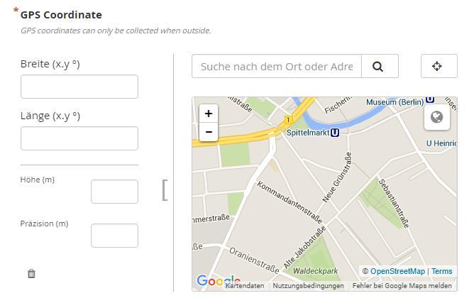 App Umfrage GPS Koordinate- UIZ-Berlin