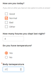Abbildung 3: Mögliches Beispiel für eine Abfrage für einen Patienten