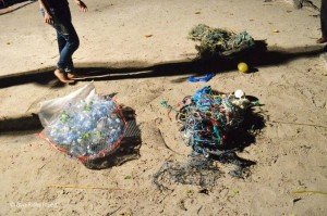 The recycled turtle and the ghost nets were then linked to form an entangled turtle.