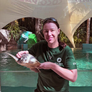 Dr Jackie Reed, ORP's Veterinary Surgeon, Marine Turtle Rescue Centre, Maldives