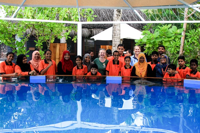 Immaduddin School students at the launch of the ORP and One & Only Marine Education Promgramme.
