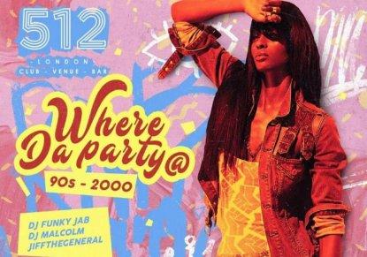 Where Da Party At flyer