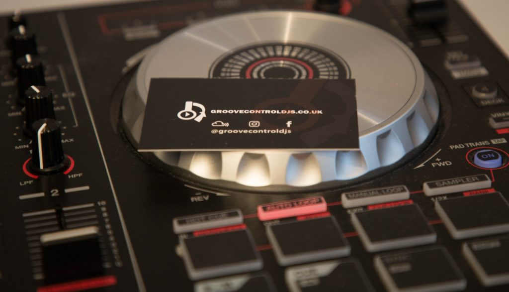 DJ Hire Controller and business card
