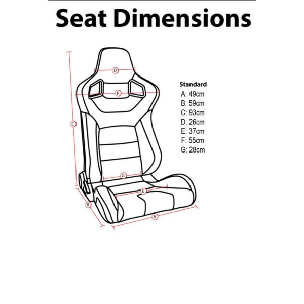 Corbeau Sportline RSS Bucket Seat Sizing