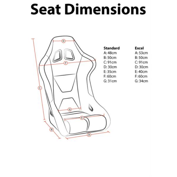 Corbeau Sprint Series X Racing Seat-sizing