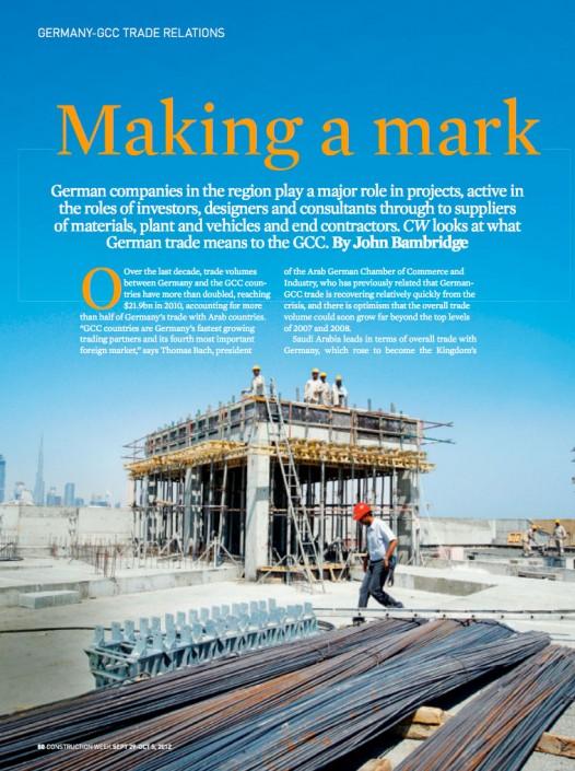 Lindemann Group - Construction Week: Making a mark 1