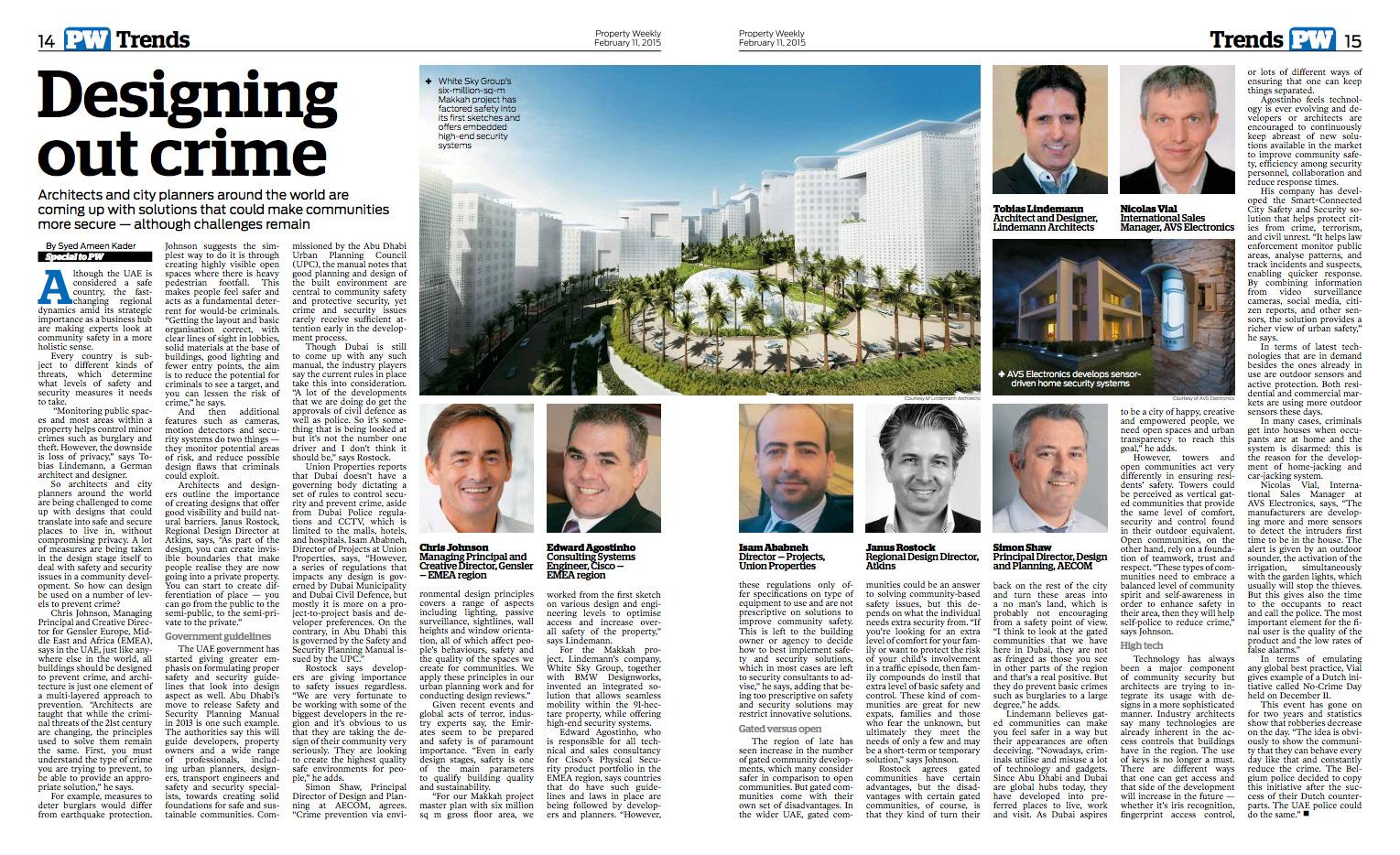 Lindemann Group - Property Weekly: Designing out crime - Lindemann's Makkah megaproject