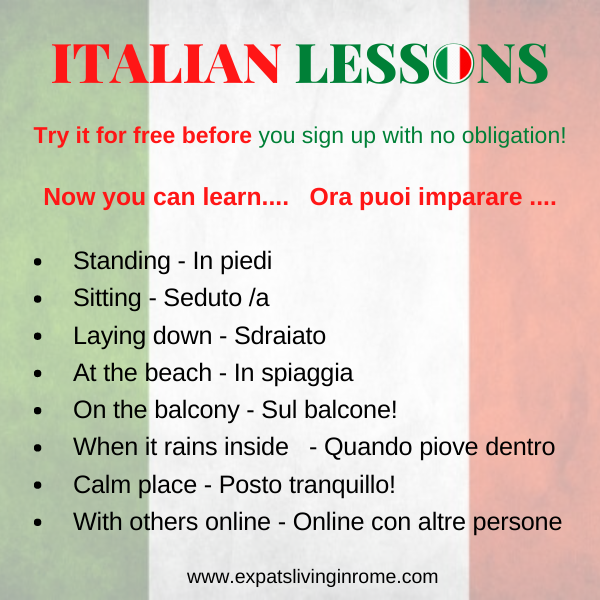 600x 600online lessons Italian spanish French English German learn italian lezione