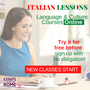 Learn Italian online - first lesson free with expats living in rome
