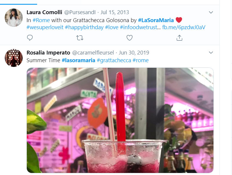 Trending on Twitter: Summertime grattachecca slushies La Sora Maria has reopened in Rome