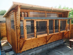 18ft x 6ft H/Duty Combi Aviary