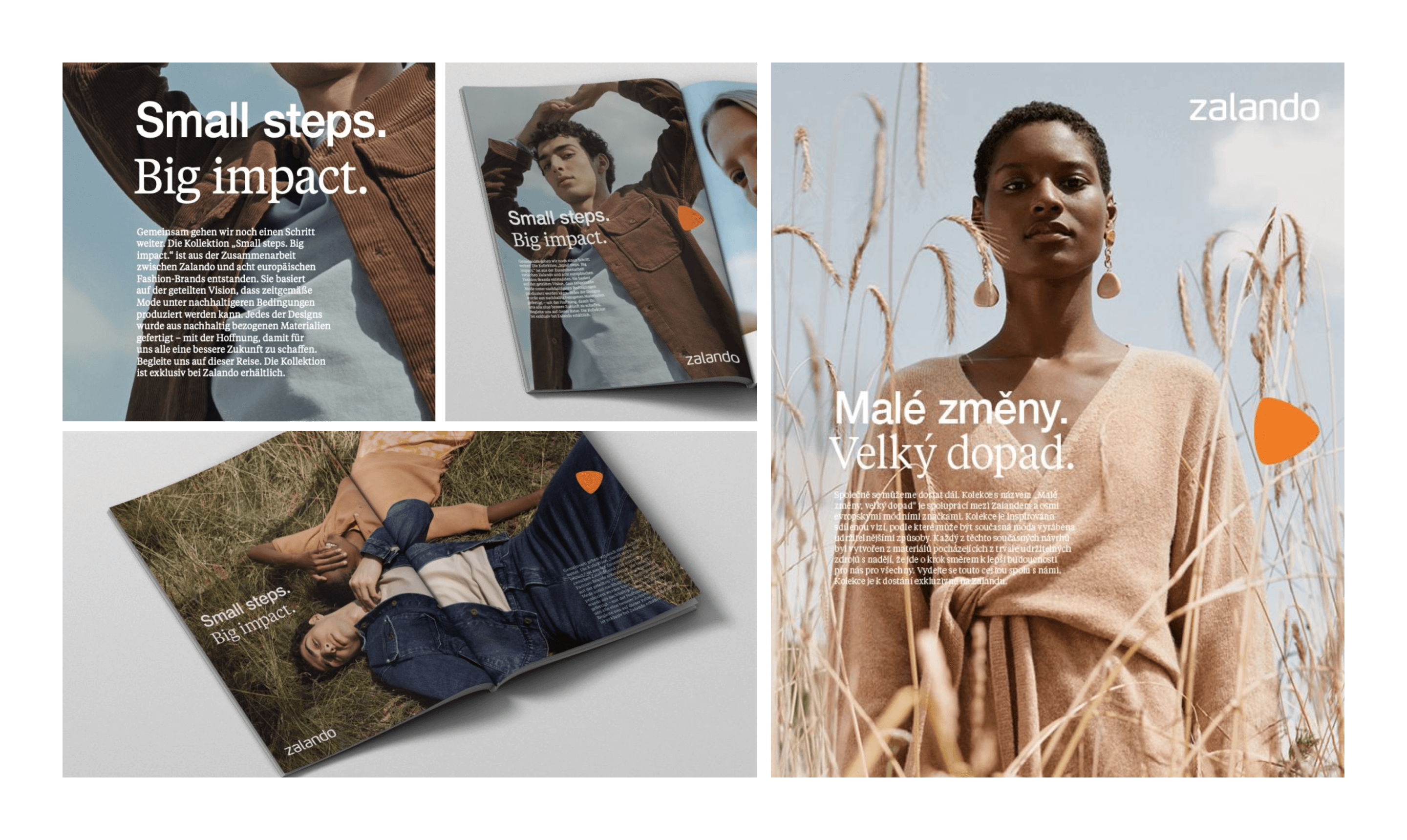 Application of the type pairing in a magazine spread. Design by Zalando's MS&C team