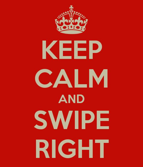 swiping right