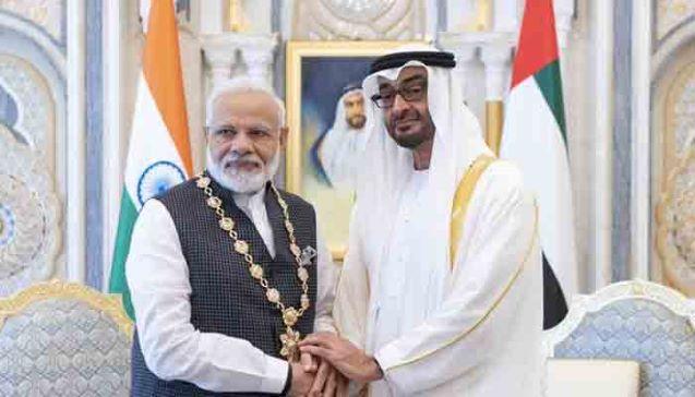 Modi thanks UAE for backing India on Kashmir issue