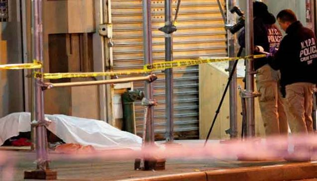 New York: Four homeless men beaten to death