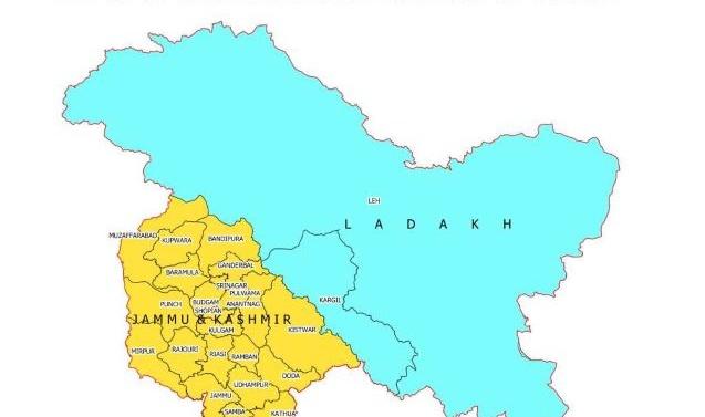 India Govt Releases New Maps of J&K, Ladakh