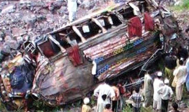 Nine killed as passenger bus plunges into ravine in Azad Kashmir