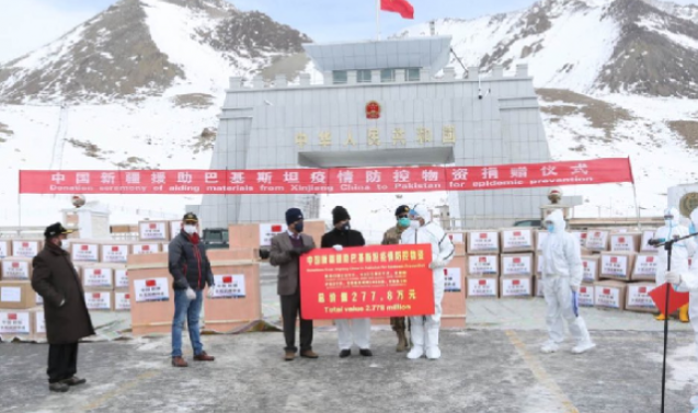 G-B receives medical aid from China to fight spread of coronavirus