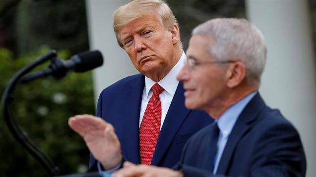 Trump retweets call to fire gov't expert Fauci