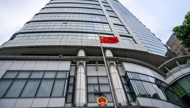 China opens secret police headquarters in Hong Kong