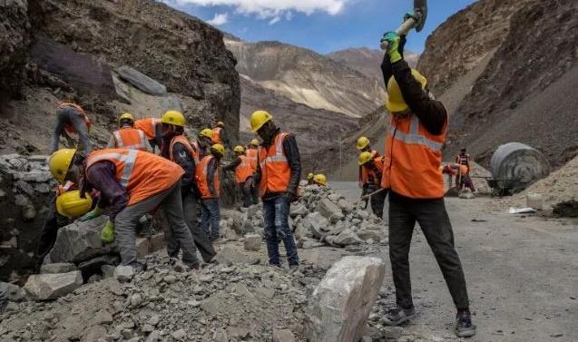 India races to build border roads, bridges to match China