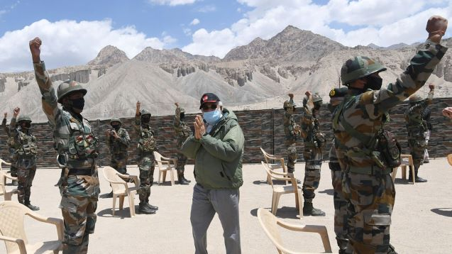 China shares dramatic video of mountain clash with India troops