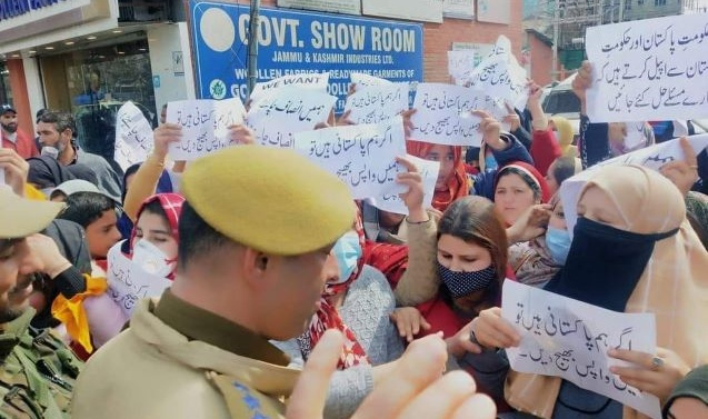 We will continue protest till our demands are not met: Pak origin wives of ex-militants in Kashmir