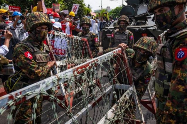 Dozens held, many injured in Myanmar crackdown