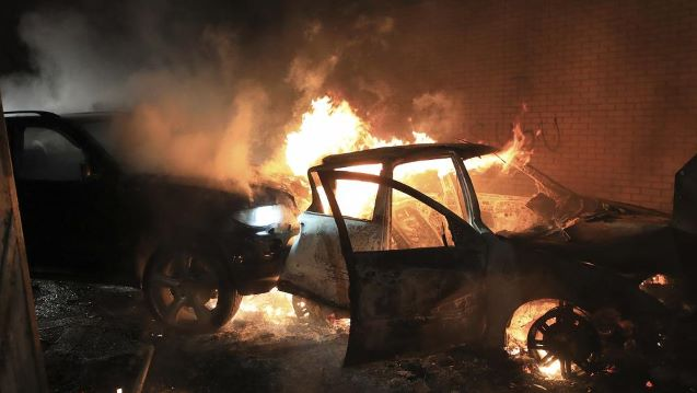 Bus hijacked and burned in sixth night of violence in West Belfast