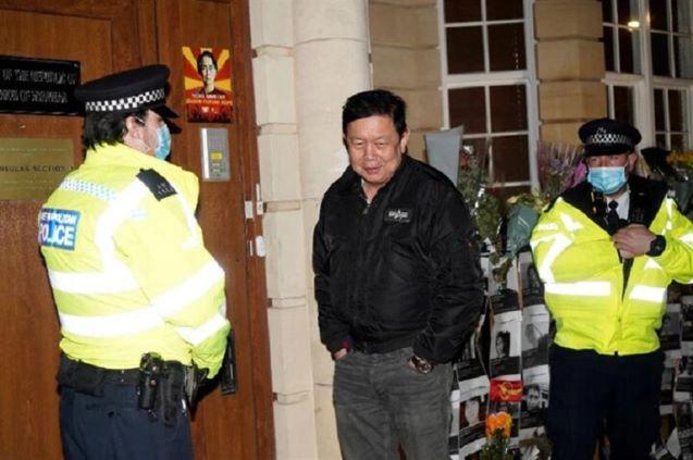 Britain slams 'bullying' Myanmar over London embassy standoff