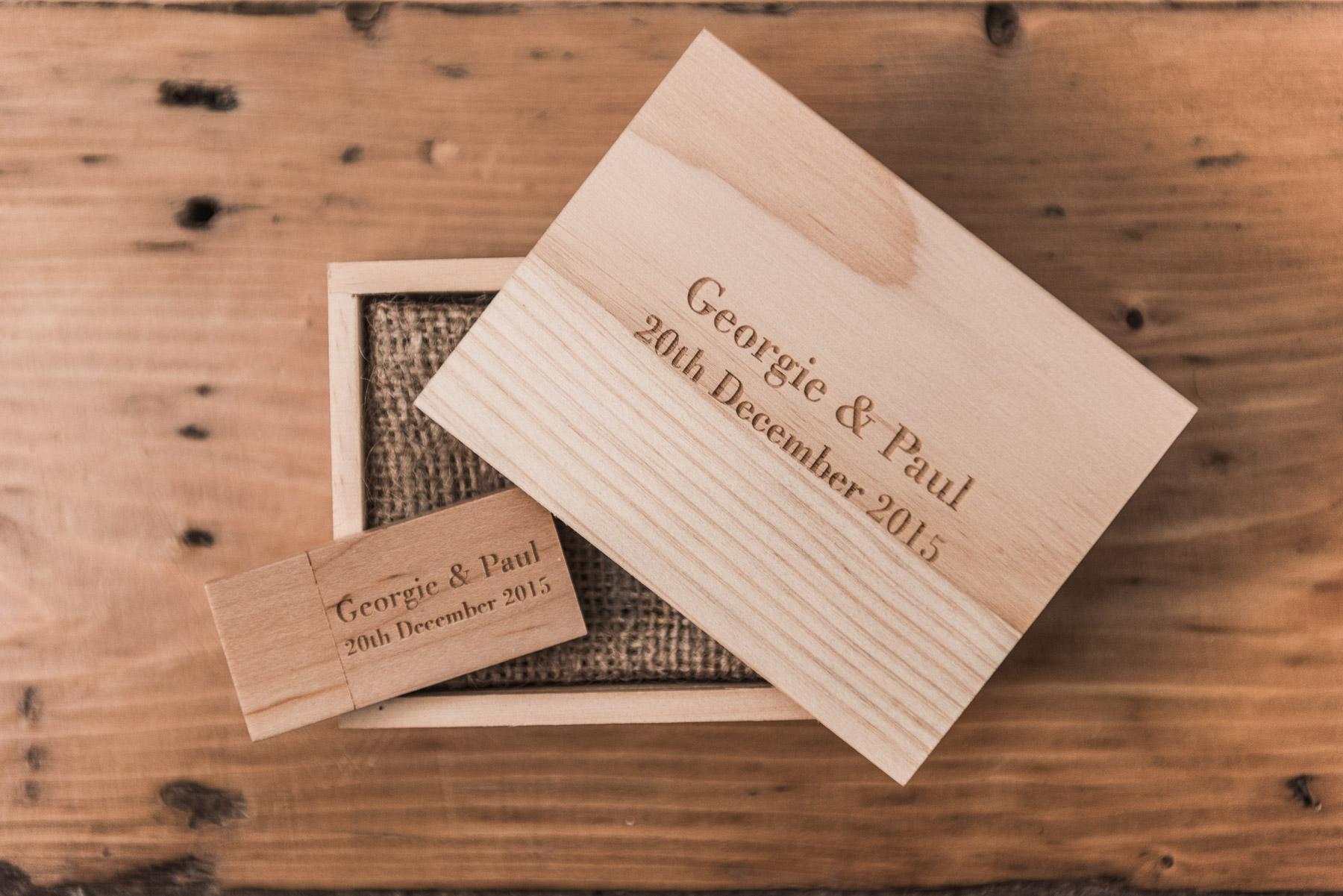 cambridgeshire wedding photography USB keepsake box
